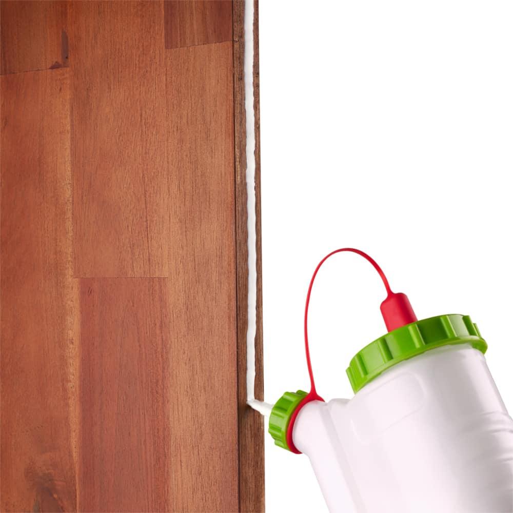 vertikal, horizontal & kopfüber Leimen ist mit dem Glubot Leimspender kein Problem!