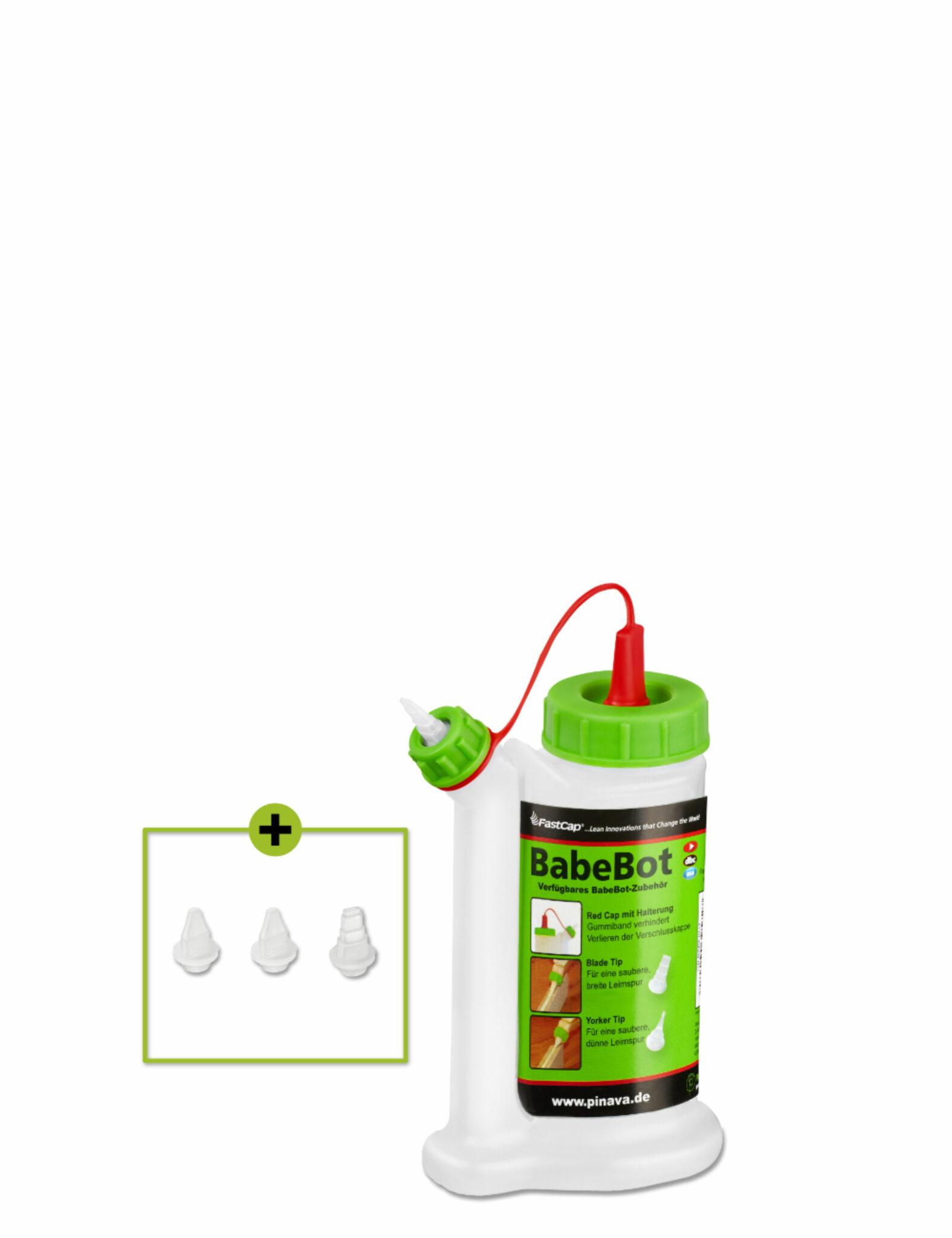 BabeBot und Glubot Leimspender Leimflasche von Fastcap in der Pinava Edition