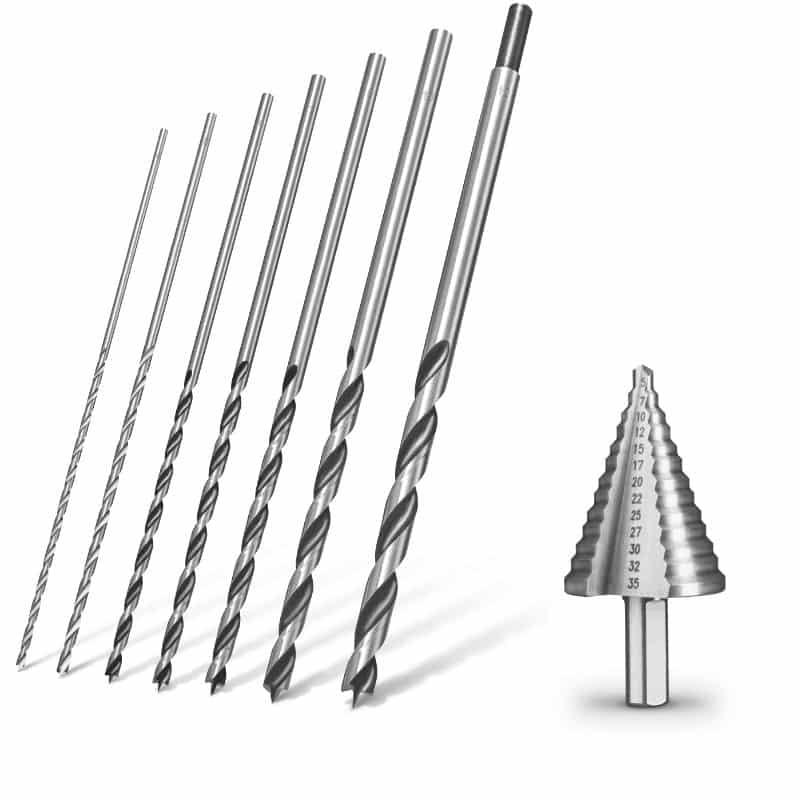 Bohrer Holzbohrer Stufenbohrer Zubehör für Bohrmaschinen